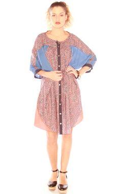 Petal Print Shirt Dress.