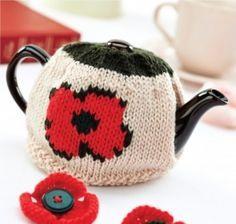 Poppy Tea Cosy - free knitting pattern download from Let's Knit!