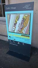 Gary Lichtenstein exhibition poster at Scottish National Gallery of Modern Art One Edinburgh