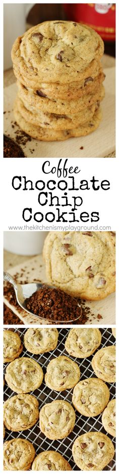 Coffee Chocolate Chip Cookies ~ put a tasty twist on the original with instant…