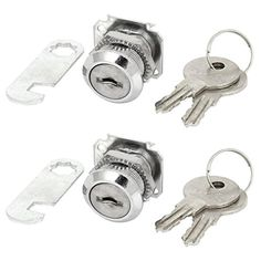 Cabinet Drawer Security Cylinder Cam Lock 4 Keys 2pcs Mini Quarter Turn With Screw Mounted Straight Suitable For Mailbox, Drawer, Cabinet, Cupboard, Etc. #Cabinet #Drawer #Security #Cylinder #Lock #Keys #Mini #Quarter #Turn #With #Screw #Mounted #Straight #Suitable #Mailbox, #Drawer, #Cabinet, #Cupboard, #Etc.