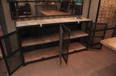 industrial 4 doors mesh cabinet | FarFetchers.com