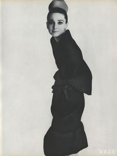 Audrey Hepburn (in Givenchy) photographed by Irving Penn for Vogue, (1964)