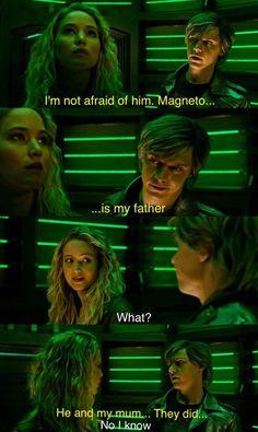 | Evan Peters as Quicksilver and Jennifer Lawrence as Mystique - X-men : Apocalypse |