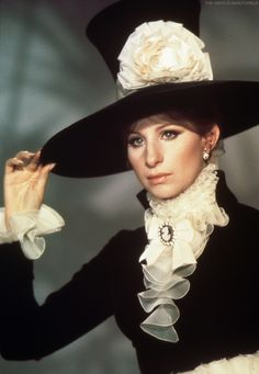 """Streisand photographed in a Cecil Beaton costume for """"On A Clear Day You Can See Forever""""."""