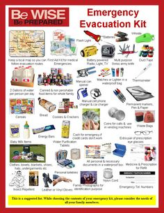 Emergency kit information