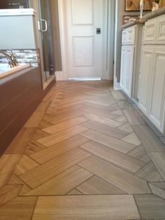 Entryway Tile With Wood Border Tile Wood