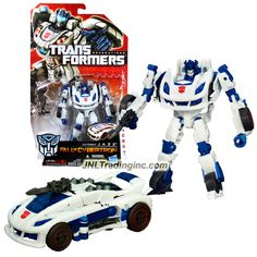"""Hasbro Transformers Generations Fall of Cybertron Series Deluxe Class 6"""" Tall Figure - Autobot JAZZ with Blaster (Vehicle Mode: Cybtertronian Racer)"""