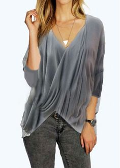 Amazon Angebot Honestyi Damen Chiffon Bluse Henley Shirt Casual Langarm  Oberteile Women Fashion Gestreifte Lange Ärmel Sexy Knopf… 97214b73d4