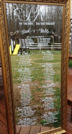 Hand Drawn Calligraphy Wedding  6 ft. Mirror by CoastalCalligraphy