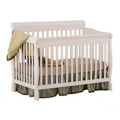Storkcraft Modena 4 in 1 Fixed Side Convertible Crib, White