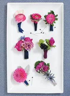 these are exactly the boutonnieres i like for chad/randy/boys