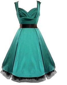 フリーpp実像のレトロな50年代のファッションの女性の夏のカジュアルなスイング60年代ロカビリードレスパーティードレス(China (Mainland))