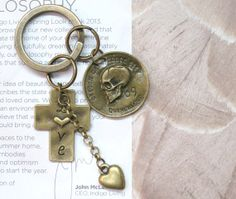 Steampunk Gothic Brass 69 Skull Wrinkle Coin by AccessoriesG, $2.30