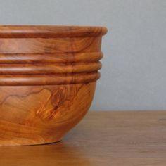 Apple wood salad bowl wood turning rich by TreeStreetTurnings