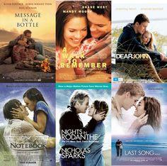 Nicholas Sparks Movies...tear jerkers but good!
