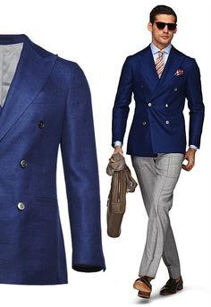 suit supply blue plain soho image double breasted db blazer suit jacket menswear