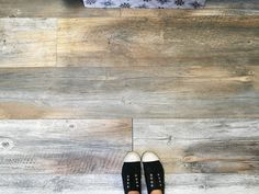 Universal Oak, woodgrain / timber look porcelain dry laid on our floor at head office. LOVE this tile.