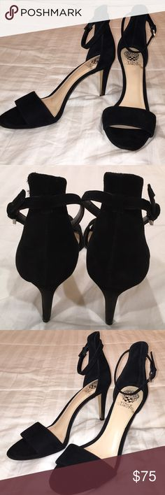 "Vince Camuto Suede Ankle Strap 'Court' Heel Vince Camuto Suede Ankle Strap 'Court' Heel is in wonderful condition! Only worn out once! 3.5"" heel Vince Camuto Shoes Heels"