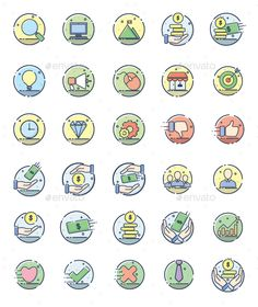 30 Line Filled Business Icon