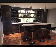 Corner Bar, Basement Designs, Basement Bars, Bar Ideas, Basements, Modern,  Basement