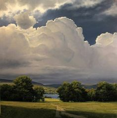 Renato Muccillo, Canadian Landscape Artist ~ Rising Thunderhead oil on canvas 2014 Landscape Art, Landscape Paintings, Watercolor Landscape, Sky Painting, Summer Painting, Sky And Clouds, World Best Photos, Belle Photo, Beautiful Landscapes