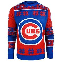 3673448bcf5 Chicago Cubs Forever Collectibles KLEW Big Logo Ugly Sweater Sizes S-XXL w   Priority