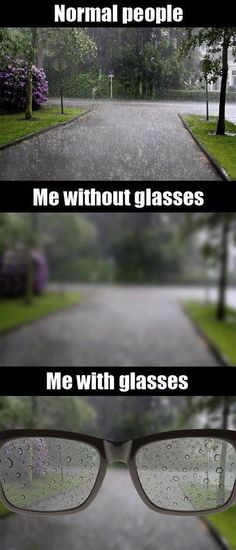 """And this is why wearing glasses suck. So stop saying things like """"oh, your glasses are so cute,"""" as though we are wearing them as a fashion accessory. They simply suck. But we need them in order to see (most of the time)."""