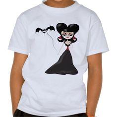 Vamp girl walking a bat kids t-shirt  #vamp #bat