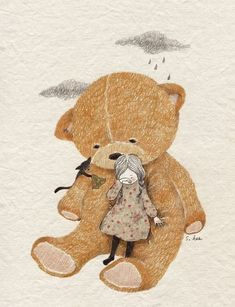 Belle And Boo, Korean Artist, Book Girl, Children's Book Illustration, Whimsical Art, Cat Art, Painting & Drawing, Watercolor Art, Art Drawings