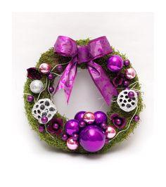 Purple Christmas Purple Christmas, Christmas Time, Christmas Wreaths, Ornament Wreath, Christmas Swags, Holiday Burlap Wreath, Christmas Garlands