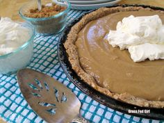 Paleo, Gluten, Grain and Dairy Free Butterscotch Pie September 18, 2013 by Caitlin Weeks  Grassfed GIrl
