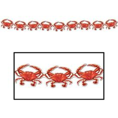 Amazon.com: Crab Streamer Party Accessory (1 count) (1/Pkg): Toys & Games