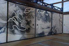 龍安寺 竜の襖絵 - Dragon painting on fusuma, Ryoan-ji Temple, Kyoto, Japan photogallery