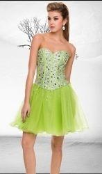 #   Sweetheart Corset Mini Fluffy Party Dress #corsetpromdress