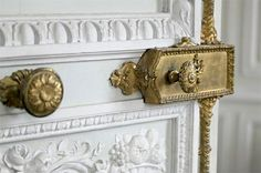 Petite Trianon, Palace of Versailles Door Knobs And Knockers, Knobs And Handles, Door Handles, Brass Handles, Gates, When One Door Closes, Versailles, Paris Apartments, Closed Doors