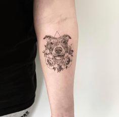 Mouse Tattoos, Dog Tattoos, Body Art Tattoos, Small Tattoos, Ink Tattoo, Piercing Tattoo, Tattoo Pitbull, Logan Tattoo, Dog Portrait Tattoo