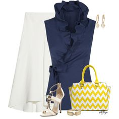 """Style this Chevron Bag Contest"" by kginger on Polyvore"