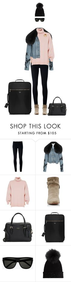 """""""Going home...I guess..."""" by andrea-garzon ❤ liked on Polyvore featuring Levi's, Jonathan Simkhai, TIBI, Yves Saint Laurent, Kate Spade and M. Miller"""