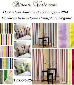 Velours velvet rideau curtain tenda vorhang függöny decoration déco deko drapes interior room http://www.rideau-voile.com