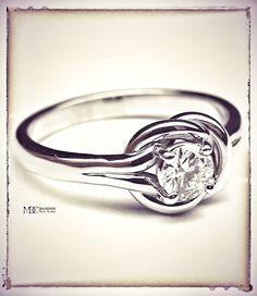 Love Knot Solitaire Diamond Engagement Ring  http://mdcdiamonds.com/European_Engagement_Ring_Details.cfm?Stock=ER40&Country=US #loveknotengagementring