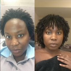 Oct 2015 (7 months loc'd) vs March 2017 (2 yrs loc'd) #sisterLocks #womenwithlocs #locs #shortLocs