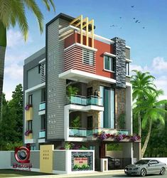 Modern And Stylish House Exterior Design Ideas Bungalow House Design, House Front Design, Modern House Design, House Architecture Styles, Modern Architecture, Dream House Plans, Modern House Plans, House Elevation, Building Elevation