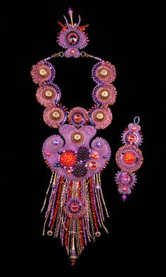 Jewelry Design - Bib-Style Necklace and Bracelet Set with Seed Beads, Swarovski® Crystals and Glass Beads - Fire Mountain Gems and Beads
