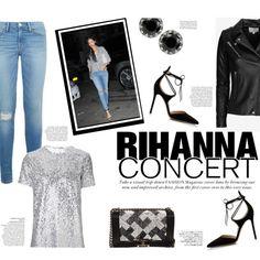 Hot Ticket: Rihanna Concert by katsin90 on Polyvore featuring Nina Ricci, IRO, Frame, Gianvito Rossi, Chanel, Betsey Johnson, Avenue and Rihanna