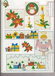 GRÁTIS Ponto Cruz: Gráficos Mini Natal