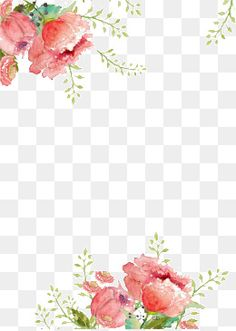 Fundo de Flores, Creative Background, Aquarela, Fundo Imagem PNG