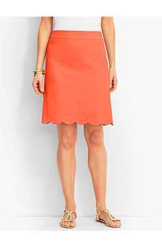 Scalloped Skirt - Talbots