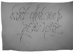 Criminal alphabet 'Gang related'. Ruling pen, Chinese stick ink, Khadi paper. 2013