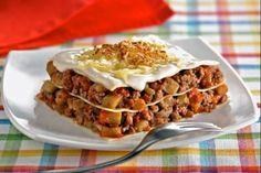 Recetas – Lasaña al microondas al estilo italiano Microwave Recipes, A Table, Waffles, Pasta, Breakfast, Ethnic Recipes, Freezer, Food, Plate